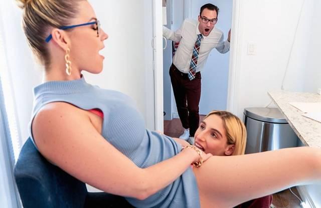 Мужик увидел, как жена получает от дочери на стуле нежный куннилингус