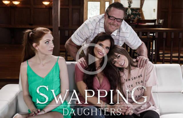 Отцы обменялись дочками, но все превратилось в групповушку